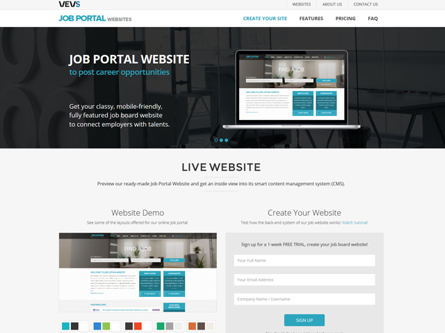 Job Portal Website - Vevs.com