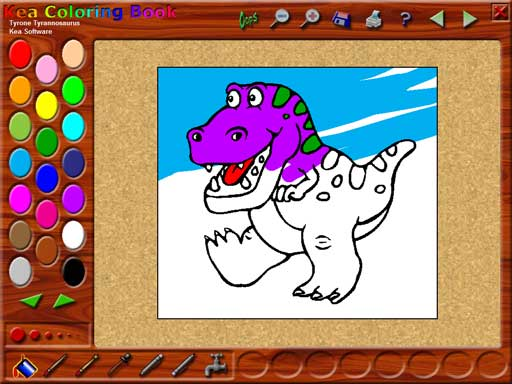 Kea Coloring Book Games Online : Kea Coloring Book Main Window Kea Software Kea Coloring Book for kids of all ages.
