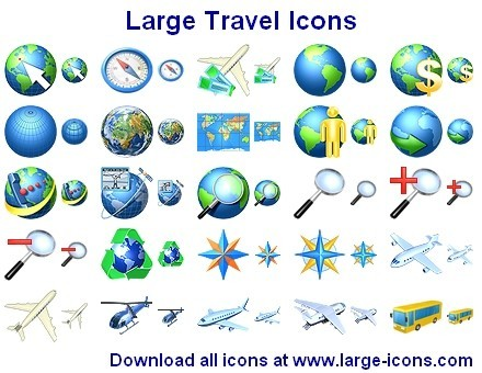 Large Travel Icons