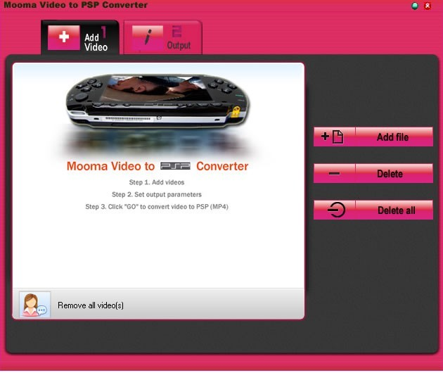 Mooma Video to PSP Converter