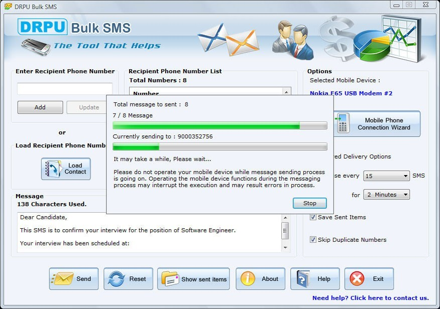 ... software - Free to download Nokia mobile phone bulk sms software