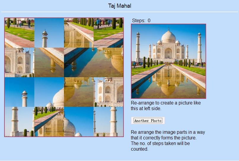 Online Building Image Puzzle Game