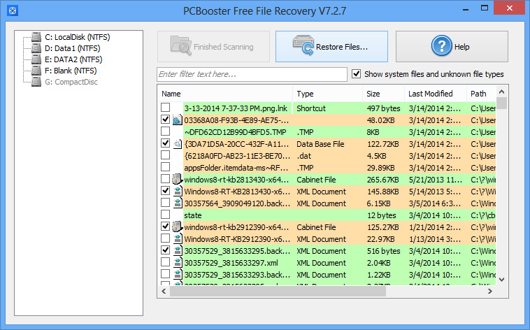 PCBooster Free File Recovery