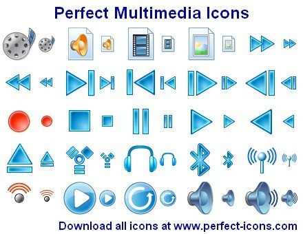 Perfect Multimedia Icons