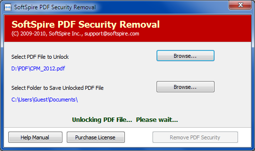 Remove Adode PDF Security