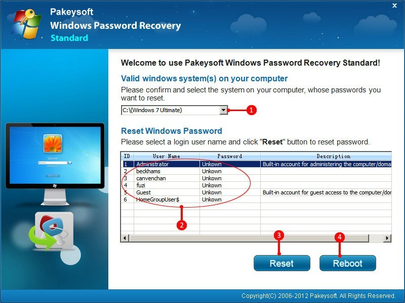 Reset Windows 7 Administrator Password