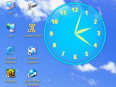 Screen Clock