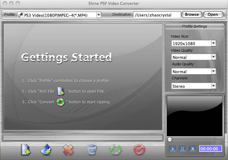 Shine PSP Video Converter for Mac