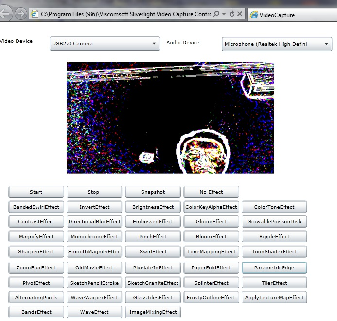 Silverlight .NET Video Capture SDK