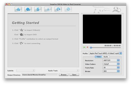 SnowFox DVD & Video to iPod Converter for Mac