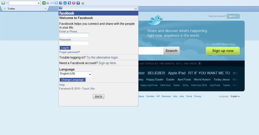 Social Toolbar FireFox