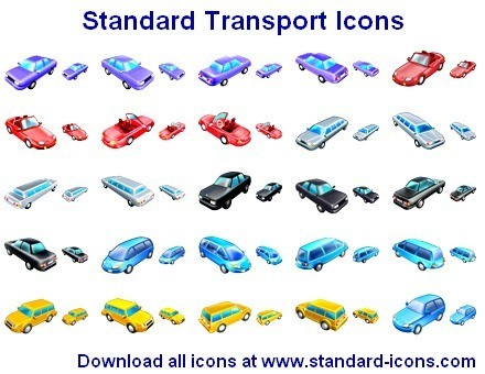Standard Transport Icons Main Window - Aha-Soft - Create online ...