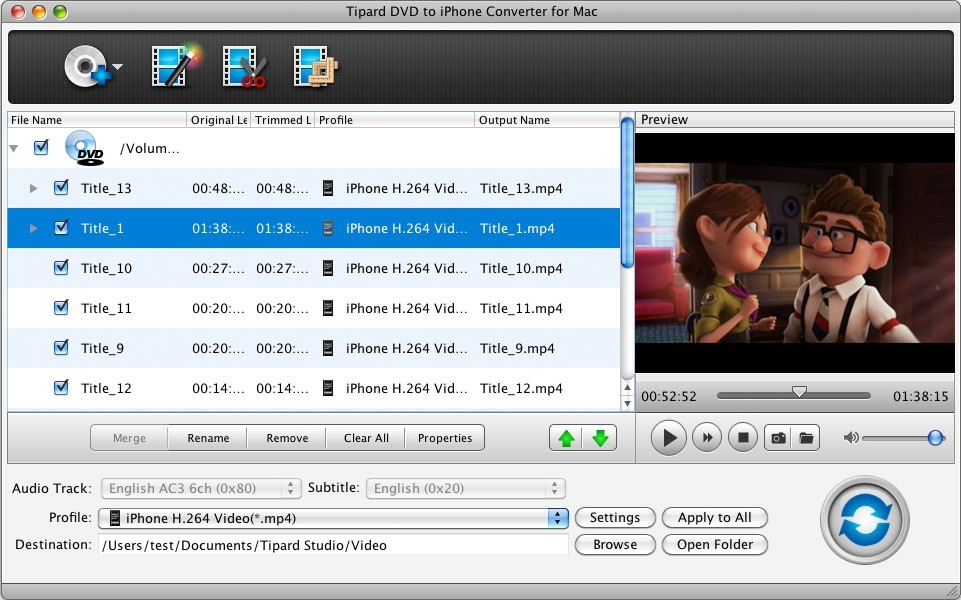 Tipard DVD to iPhone Converter for Mac