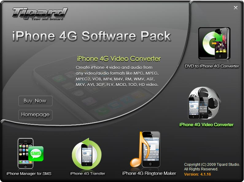 Tipard iPhone 4G Software Pack