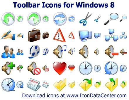 Toolbar Icons for Windows 8