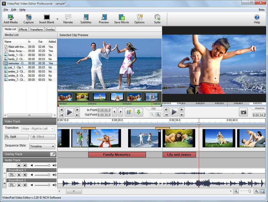 VideoPad Professional Video Editor