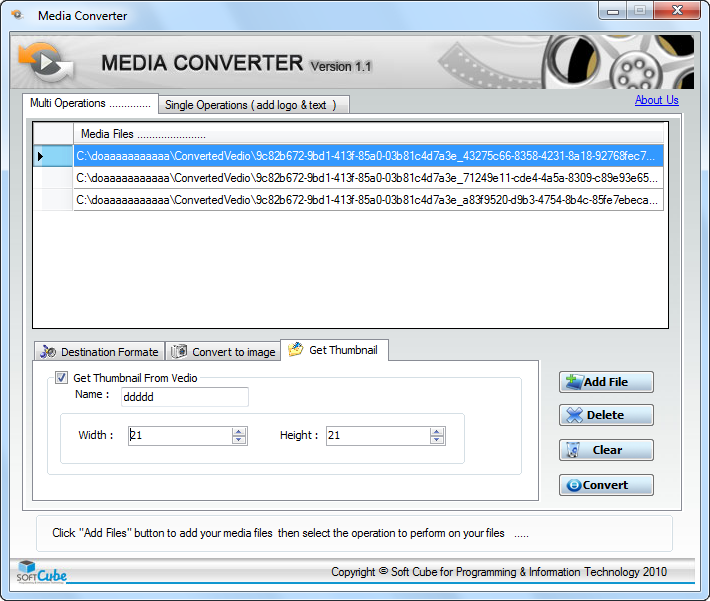 Video Converter Convert and split sound from video and add logo to video