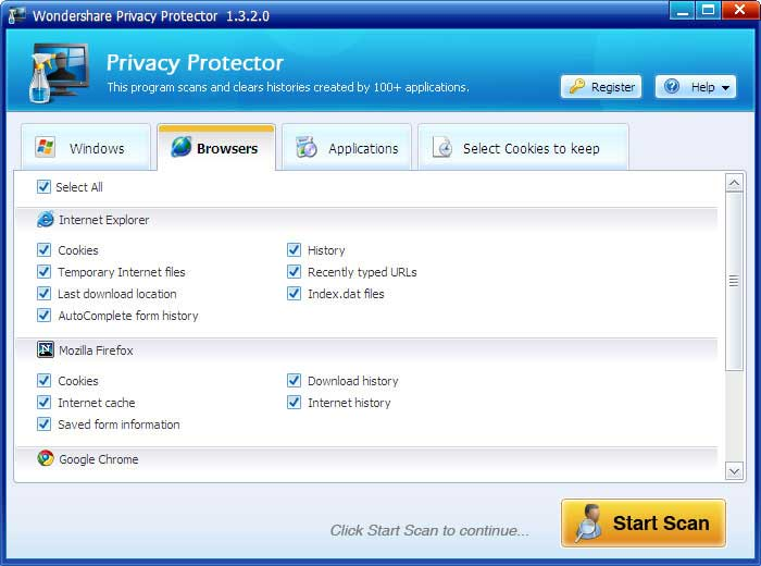 Wondershare Privacy Protector