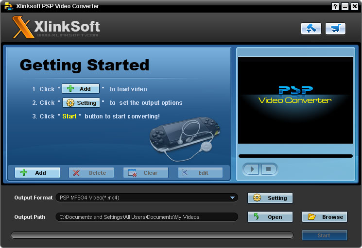 Xlinksoft PSP Video Converter