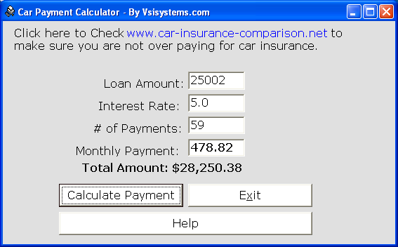 Car Payment Calculator Buddy