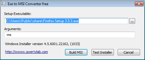 Exe to Msi Converter free
