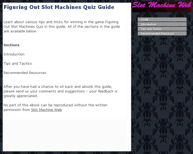 Figuring Out Slot Machines Quiz Guide