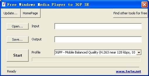 Free Windows Media Player to 3GP SE