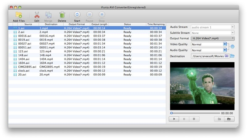 iFunia AVI Converter for Mac