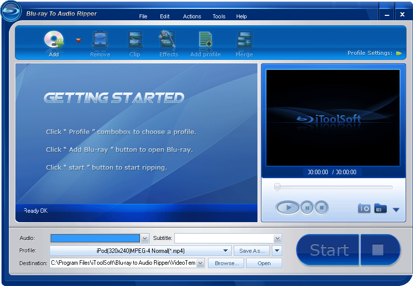 iToolSoft Blu-ray to Audio Ripper
