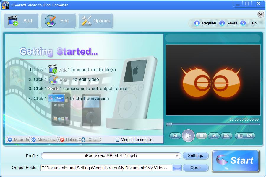 uSeesoft Video to iPod Converter