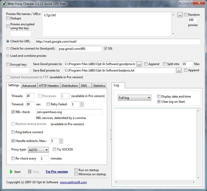 Online proxy checker : Eth rate
