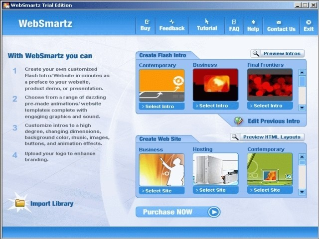 Websmartz Flash Intro Builder