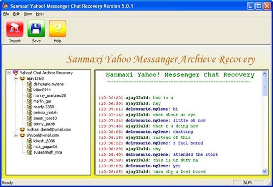 Yahoo Messenger Chat Recovery Program