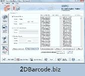2d Bar Code Screenshot