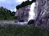 Screenshot of 3D Living Waterfall Screensaver