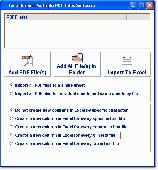 Excel Import Multiple PDF Files Software Screenshot