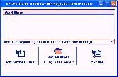 Screenshot of MS Word Add or Remove (Delete) Data, Text & Characters Software
