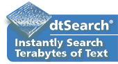 Screenshot of dtSearch Web with Spider single-server
