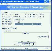 AQL Secure Password Generator Screenshot