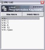 Virtual Programmable Keyboard Screenshot