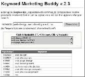 Keyword Marketing Buddy Screenshot