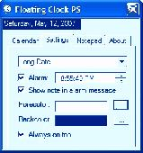 Floating Clock Screenshot
