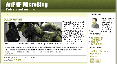 ApPHP MicroBlog - Personal PHP Web Blog Screenshot