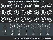 App Bar Icons for Windows 8 Screenshot