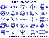 Blue Toolbar Icons Screenshot