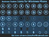 Business Toolbar Icons for Windows Phone Screenshot
