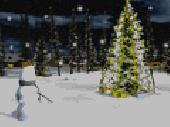 Screenshot of Christmas Eve 3D Screensaver