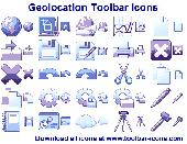 Geolocation Toolbar Icons Screenshot