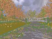 Golden Autumn 3D Screensaver Screenshot