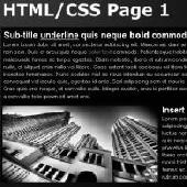 HTML/CSS Page Renderer AS2 Screenshot